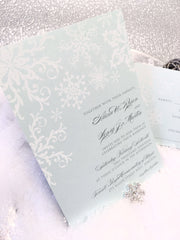 Winter Snowflake Flat Invitation 0757