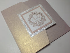 Pebble Paper Pocketfold Invitation #0121