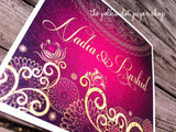 Sari Indian Wedding Invitation 0240