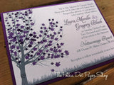 Autumn Tree Flat Card Invitation 0185