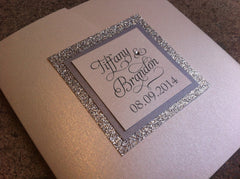 Glitter Pocketfold Wedding Invitation #0509
