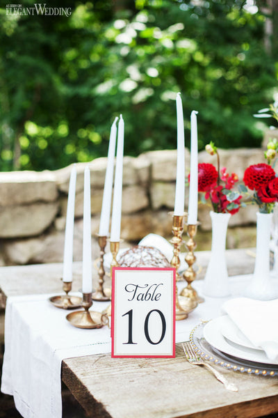 3-layer Glitter Table Number Card 0236