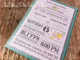 Mixed Typography Glitter Flat Card Invitation 0193