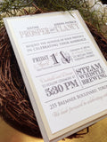 Rustic Mixed Typography Pocketcard Invitation 5678