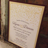 Falling Glitter Wedding Invitation 0180