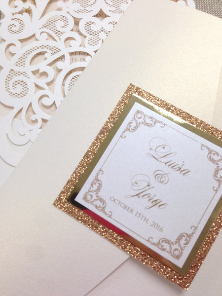 5x7 Portrait Glitter Pocketfold #0140