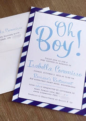 Oh Boy! Baby Shower Invitation for baby boy  0612