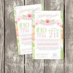 Tropical Themed Stag & Doe / Jack & Jill Ticket 3695