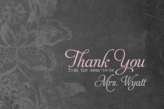 Pack of 10 Customized Chalkboard Thank You Cards 0334