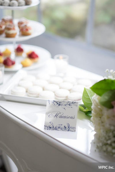 French Toille Place Cards customized with guest name and optional table number Place Card 0813