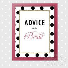 Advice for the Bride Bridal Shower Poster 0788