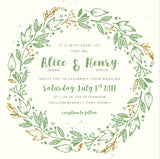 NEW 2018 Autumn/Fall Wreath Wedding Invitation 6985