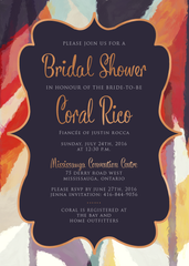 Aztec Copper Bridal Shower Invitation 0247