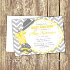 Moustaches and Chevrons Baby Shower or First Birthday Party Invitation 0429