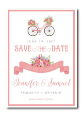 Cute Bicycle for Two Save the Date 1670
