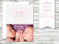 Simple Twigs Photo Birth Announcement #584588