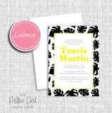 Palm Leaf Tropical Inspired Adult Birthday Party Invitation 54813