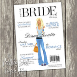 High Fashion Magazine Cover Themed Bridal Shower Invitation 0261