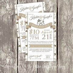 Woodland Themed Stag & Doe / Jack & Jill Ticket 3694