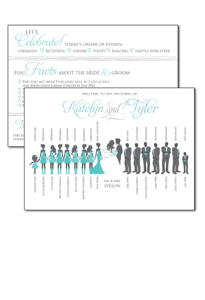 2-sided Silhouette Ceremony Programs 4594