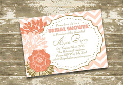 Shabby Chic Floral Party Invitation - Multiple Colours 0532