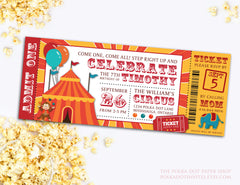 Circus Ticket Child Birthday Party Invitation 0431