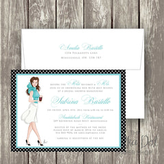 Coffee Lover Bridal Shower Invitation / Fashionista Bridal Shower Invite 0293