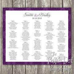 Dramatic Damask Seating Chart 0350