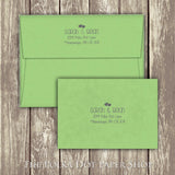 Cute Lovebird Printed Invitation 0221
