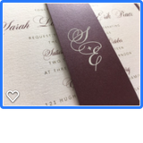 Woodgrain Chic Belly Band Wedding Invitation or Flat Invitation 85467