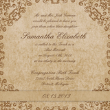Beautiful Magic Fairy Bat Mitzvah Invitation 0434