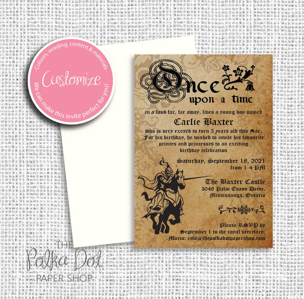 Fairytale Story Themed Child Birthday Party Invitation 549072