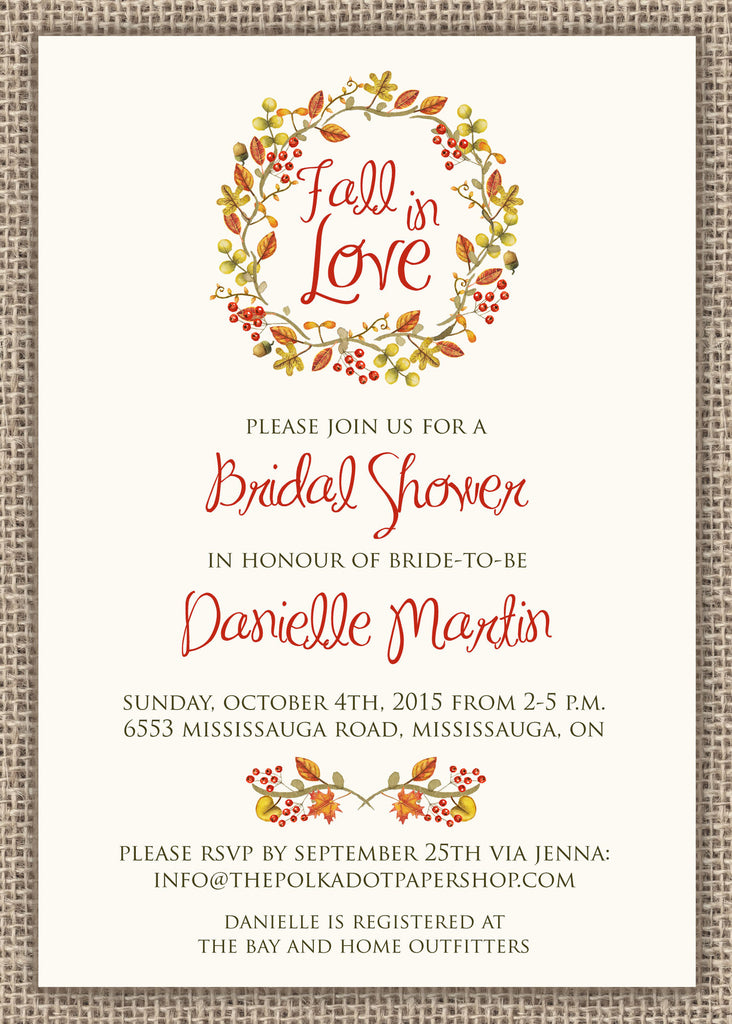 fall in love bridal shower invitation 0285