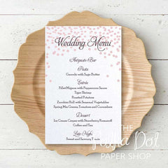 Wedding or Special Event Menu 0686