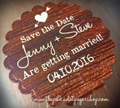 Custom Woodgrain Save The Date Magnets 0330