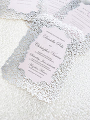 Laser Cut Flat Wedding Invitation Card 278745