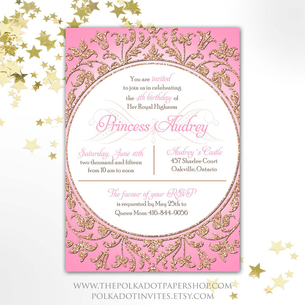 Glitter Princess Invitation 0510