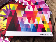 Funky Geometric Thank You Cards 0333