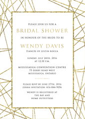 Goldrush Geometric Bridal Shower Invitation 0246