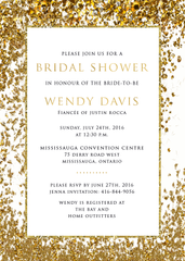 Goldrush Glitter Bridal Shower Invitation 0245