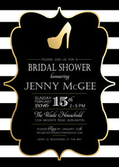 Fashionista Bridal Shower Invitation 0250