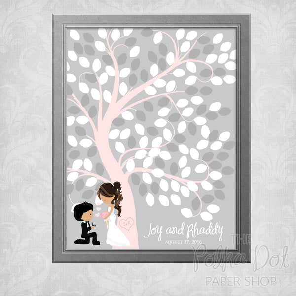 Guest Book Tree Wedding Poster 0785