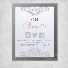 Oh Snap! Hashtag Wedding Poster 0787