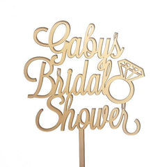 Custom Bridal Shower Cake Topper 7222