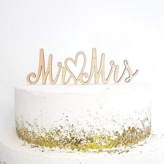 Mr & Mrs Cake Topper 7223