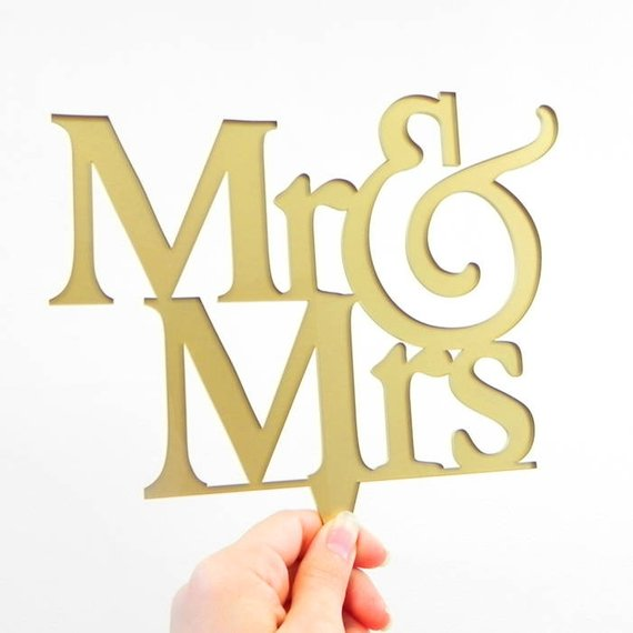 Mr & Mrs Wedding Cake Topper 7217