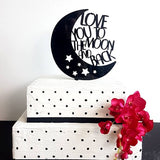 Love You to the Moon and Back Cake Topper 7224