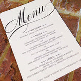 Wedding or Special Event Menu 0398