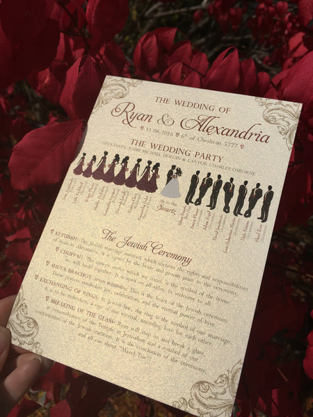 Graphic Design Work (or printed) 2-sided Silhouette Ceremony Programs