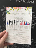 2-sided Silhouette Ceremony Programs 4587c